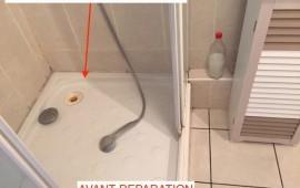 Photo - Fuite sous bac de douche